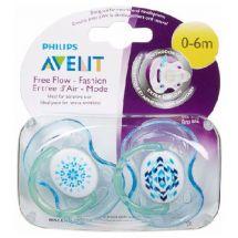CHUPETE AVENT FREE-FLOW BPA FREE 0-6 MESES X2 UNIDADES