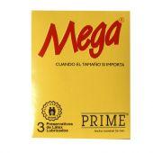 PRESERVATIVO PRIME MEGA X3 UNIDADES.