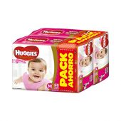 PAÑALES HUGGIES NATURAL CARE ELLAS M 136 UNIDADES