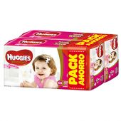 PAÑALES HUGGIES NATURAL CARE ELLAS XG X88 PACK AHORRO