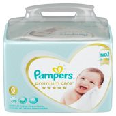 PAÑALES PAMPERS PREMIUM CARE TALLE G 68 UNIDADES