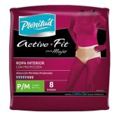 PAÑAL PLENITUD ACTIVE MUJER TALLE PEQUEÑO/MEDIANO X8