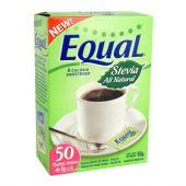 ENDULZANTE EQUAL STEVIA 50 SOBRES