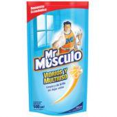 LIMPIA VIDRIOS MR.MUSCULO REPUESTO 500 ML.