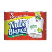 ROLLO DE COCINA NUBE BLANCA X3 UNIDADES