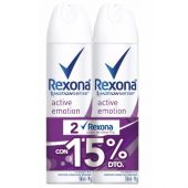 ANTITRANSPIRANTE REXONA AEROSOL ACTIVE EMOTION 150ML X2 +25%