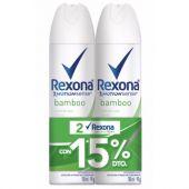 ANTITRANSPIRANTE REXONA AEROSOL BAMBOO 150ML X2 +25%