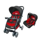 SET TRAVEL SWISS ARMOR NEGRO Y ROJO
