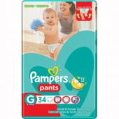 PAÑALES PAMPERS PANTS CONFORT SEC G X34 UNIDADES
