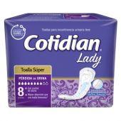 TOALLAS COTIDIAN LADY SUPER X8 UNIDADES