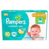 PAÑALES PAMPERS CONFORT SEC XG X48 UNIDADES