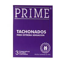 PRESERVATIVO PRIME TACHONADOS X3 UNIDADES.