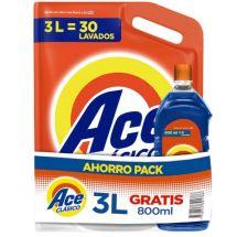 ACE CLASICO 3L DOYPACK+800ML GRATIS