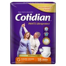 PAÑAL COTIDIAN PANTS ULTRAPROTECT TALLE G X18 UNIDADES