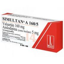 SIMULTAN A 160/5 MG 28 COMPRIMIDOS
