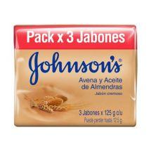 JABÓN JOHNSON & JOHNSON ADULTO AVENA X3 UNIDADES.