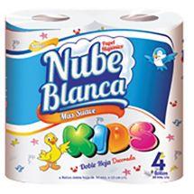 PAPEL HIGIÉNICO NUBE BLANCA KIDS 30 METROS X4