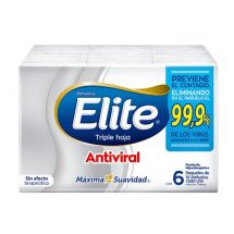PAÑUELOS DESCARTABLES ELITE ANTIVIRALES X6