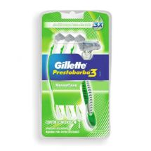 AFEITADORA GILLETTE PRESTOBARBA SENSITIVE X4