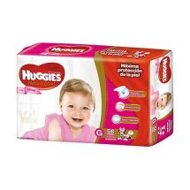 PAÑALES HUGGIES NATURAL CARE HIPER ELLAS G X56