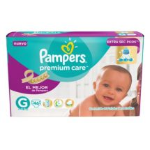 PAÑALES PAMPERS PREMIUM CARE G X46 UNIDADES
