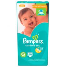 PAÑALES PAMPERS CONFORT SEC G X60 UNIDADES